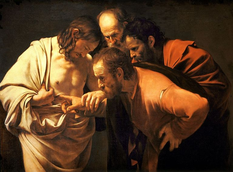The Incredulity of Saint Thomas-Caravaggio 1601-2